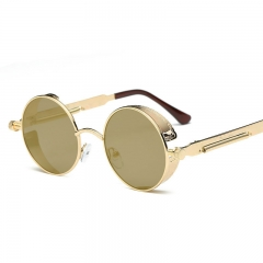New arrival personality the round shape metasl sunglasses