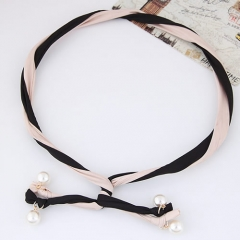 Elegant fashion pearl unique double-color hairband/hairhoop