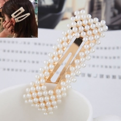 Fashion concise sweet pearl hair clip