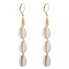 Fashion concise metal shell earrings