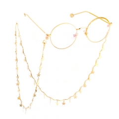Fashion concise metal stars glasses chain