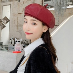 Autumn new arrival pure color vintage berets