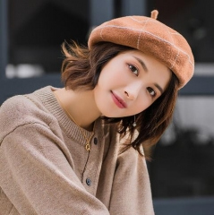 Occident fashion Versatile checked wool beret
