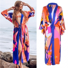 Fashion print sun protection chiffon dress/blouse