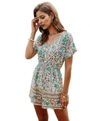 National trend hot sale printing jumpsuits