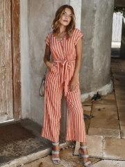Hot sale colorful stripe one piece jumpsuits
