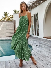 Bossimi trend flapped wave dot skirt