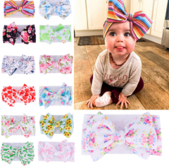 Sweet colorful printing popular baby hair band