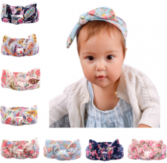 Colorful printing rabbit ear lovely headband for kids