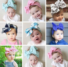 Cute DIY bowknot colorful hair band for baby