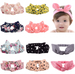Lovely rabbit ear design easy match headband for baby