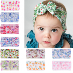 Sweet bowknot design colorful printing headband