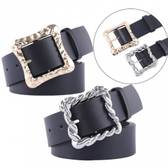 Fashion concise metal buckle belt