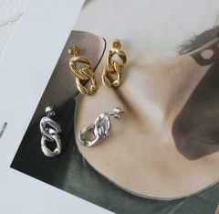 Occident fashion Geometry of the chain stainless steel earrings