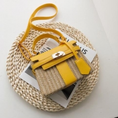 Summer design hot sale Mailman's bag made of straw