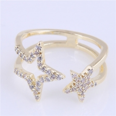 Delicate zircon copper opening finger ring