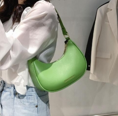 Hot sale pure color easy match hobo bag