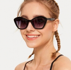 Personality polygon frame colorful sunglasses