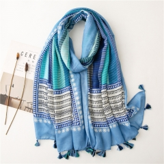 Polyester Fashion Tassel Scarf/Beach Towel for Women (180*90cm)