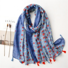 Polyester Fashion Butterfly Scarf/Beach Towel for Women (180*90cm)